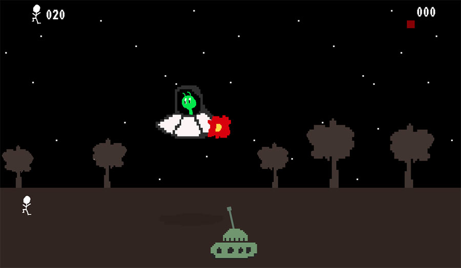 Screenshot of UFO game